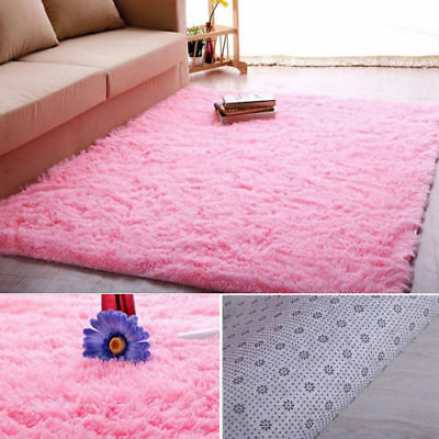New 4' x 5' Living Room Carpet Enclosure Shag Rug Floor Decor for Girl Children Play