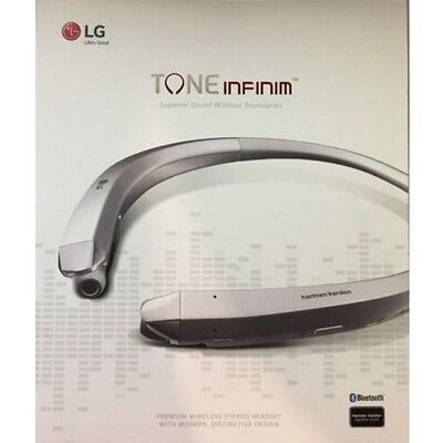LG HBS-910 Tone Infinim Bluetooth Wireless Stereo Headset Silver Superior Sound