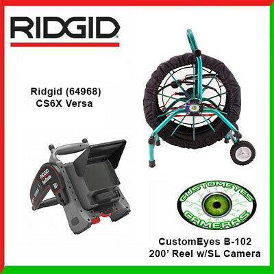 Ridgid Cs6 Monitor 64968 Customeyes 200 Color Selfleveling Camera Reel B-102