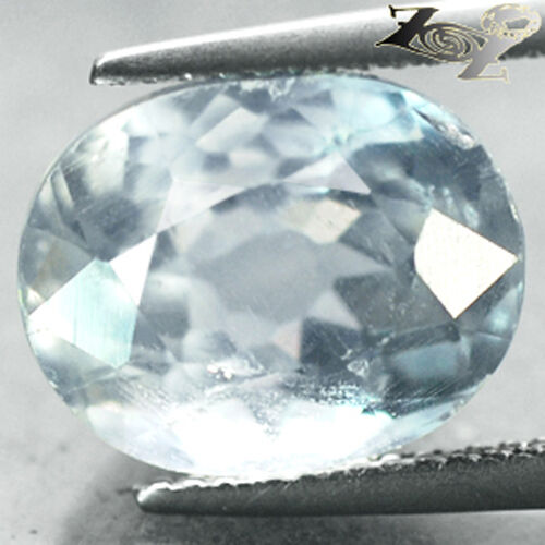 10.58 CT.Firely Natural Oval Facet 10.5*13 mm. Intense Ocean Blue Celestite 天青石