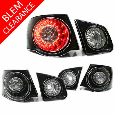 USED 06-09 VW JETTA MK5 EURO LED TAILLIGHTS - BLACK/CLEAR