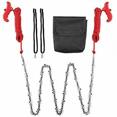 Hand Chain Saw for High Limb Tree Branch with 50 Inch Long Chainsaw 34 Blades...