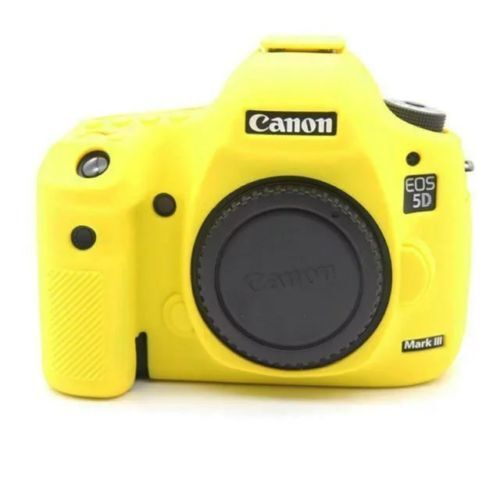 Soft Silicone Protective Case for Canon EOS 5D Mark III Color : Yellow 5D3 Durable