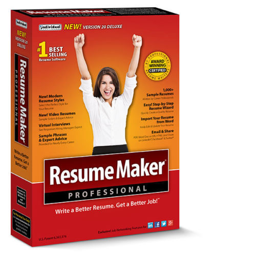 Details about Individual Software Professional ResumeMaker Deluxe 20  Resume, Job, Interview