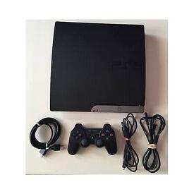PS3 Slim 250GB DEX - !MENUS & GAMES with 330 external haed drive usb