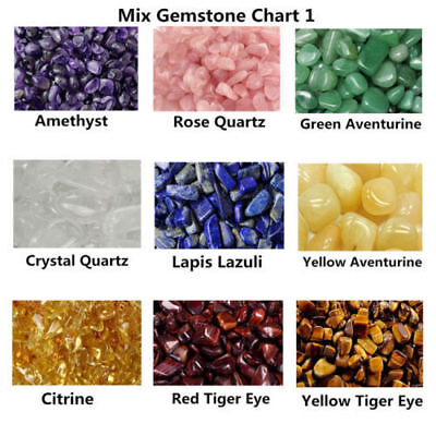 Healing Reiki Crystal Collection Stone Display Chakra Gemstone Set Polished GB