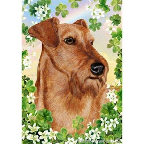 Clover Garden Flag - Irish Terrier 312201