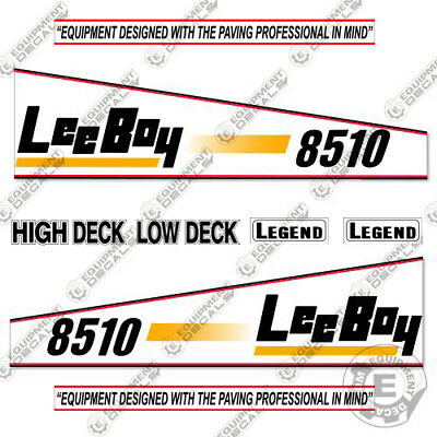 Leeboy 8510 Decal Kit Asphalt Paver Equipment Decals - 7 Year Vinyl