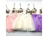 Beautiful CREAM/GOLD or LILAC/GOLD dress