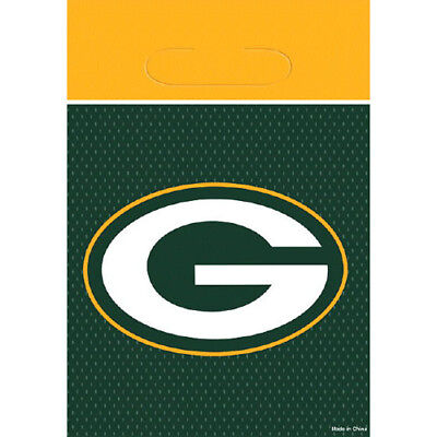 NFL GREEN BAY PACKERS FAVOR BAGS (8) ~ Birthday Party Supplies Treat Loot (Packer Party Supplies)