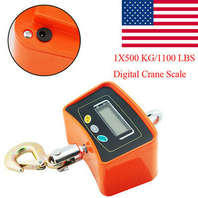 Portable Digital Crane Scale 500kg1100lbs Heavy Duty Industrial Hanging Scale A
