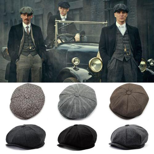 2b18d7afc5f8b Gatsby Newsboy Cap Mens Wool Ivy Hat Golf Driving Flat Cabbie Winter Warm  Hats фото