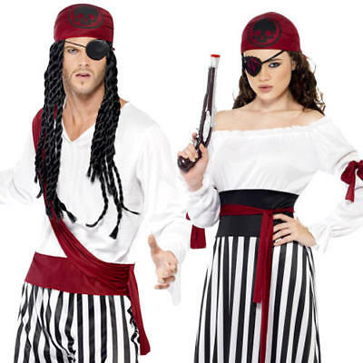 Pirate Adults Fancy Dress Halloween World Book Day Week Fairy Tale Costumes New](Pirate Halloween Costumes For Adults)