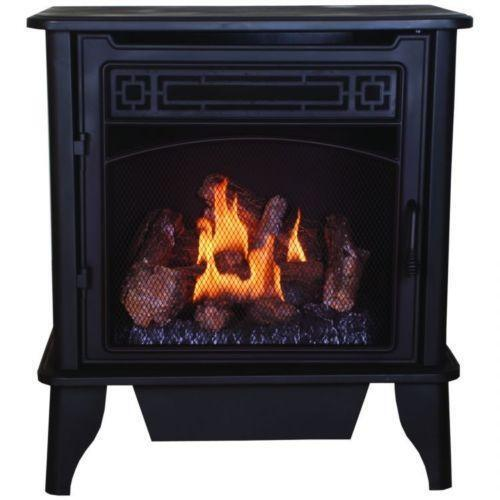 Free Standing Ventless Natural Gas Fireplace