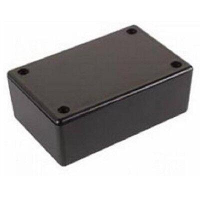 Kunststoff Gehäuse WCAH2855, 85x55x30 mm, schwarz, Plastik Leer Box, Strapubox