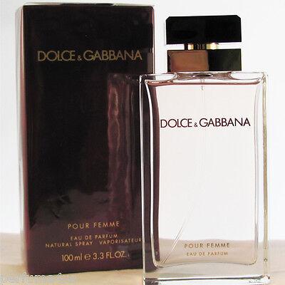 D&G Pour Femme EDP by Dolce & Gabbana 3.4 oz 100 ml Spray Women's Eau de Parfum