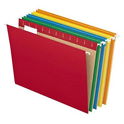 Colored Hanging File Folder - Pendaflex Recycled Hanging File Folders, Letter Size, Assorted Colors, 1/5 Cut,