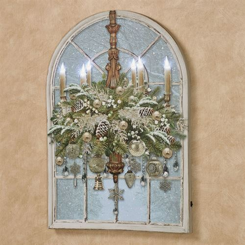 Christmas Chandelier Arched LED Canvas Wall Art Multi Cool