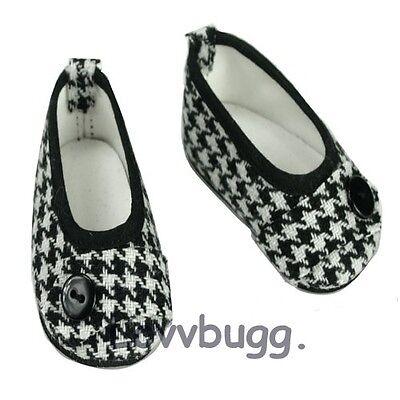 "Lovvbugg Houndstooth Ballet Flats Dress for 18"" American Girl Doll Doll Shoes"