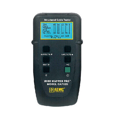 Aemc Ca7028 Wire Mapper Pro Lan Cable Tester 212782
