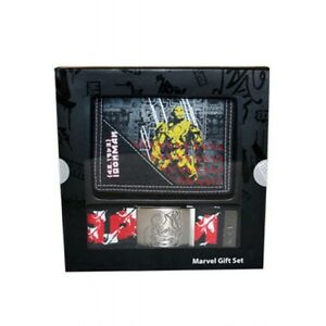 Marvel-Wallet-and-Belt-Gift-Sets-Avengers-Spiderman-Hulk-Silver-Surfer-Iron-Man