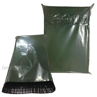 100 Dark Green Postal Bags Mailing Parcel Plastic Strong Poly 10