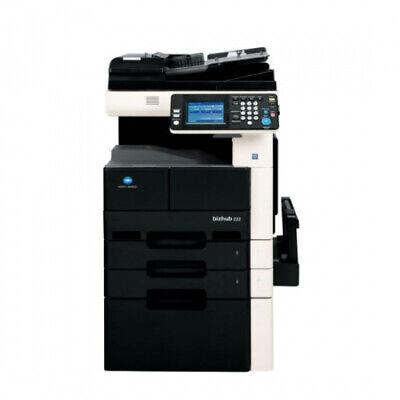 Konica Minolta Bizhub 222 Kopierer mit Fax + PF. Netzwerk S/W A3