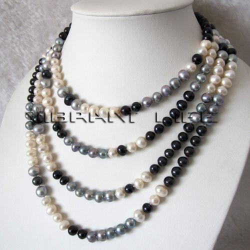 Black Pearl Necklace Ebay