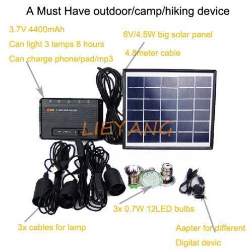 Camping Solar Panel Ebay