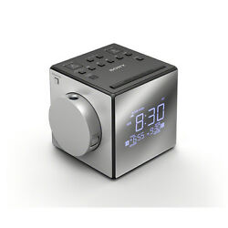 Sony ICF-C1PJ Clock Radio LCD - ICFC1PJ - Silver With Projector