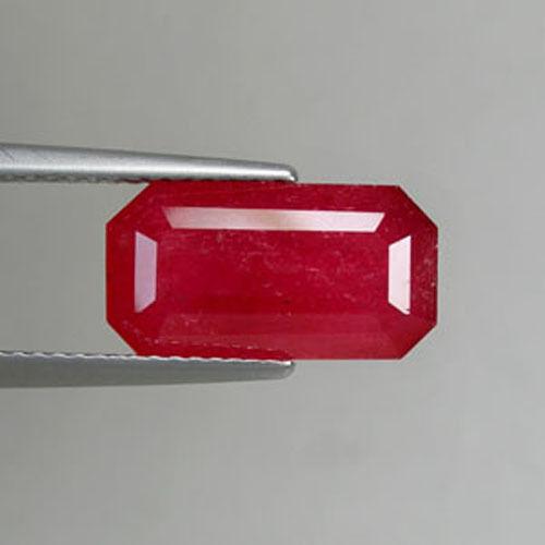 5.49 ct VERY RARE MASSIVE- FINE  RED  NATURAL RHODONITE*  LONG OCTAGON  0550 LG