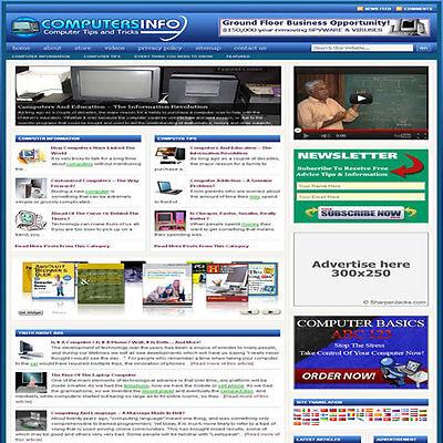 Established Technology Affiliate Website Turnkey Business Free Hosting
