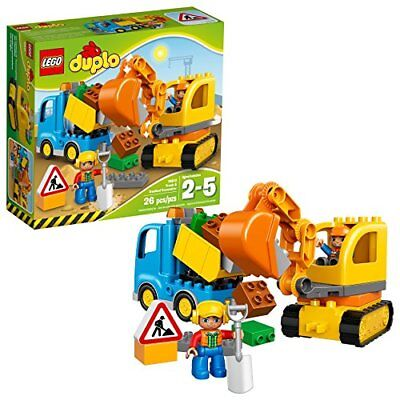 LEGO DUPLO Town Truck & Tracked Excavator 10812, Best Gift for 1-4 Year-Olds (Gifts For 4 Year Olds)