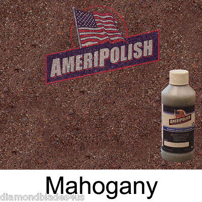 1 Gl. Mahogany Concrete Color Dye 4 Cement Stain Ameripolish Solvent Based