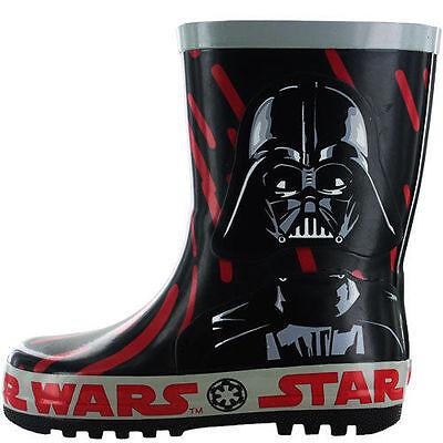 Jungen Starwars Darth Vader Schwarz Gummistiefel ()