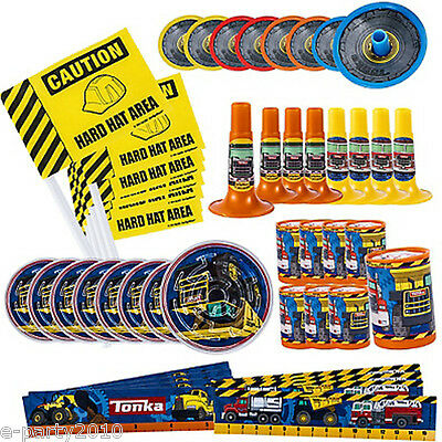 TONKA FAVOR PACK (48pc) ~ Construction Birthday Party Supplies Toys Trucks Boy - Tonka Truck Party Supplies