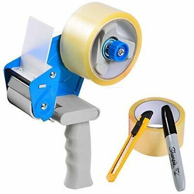 Industrial Packing Tape Gun Dispenser With 2 Rolls 2 X 165 Premium Marker
