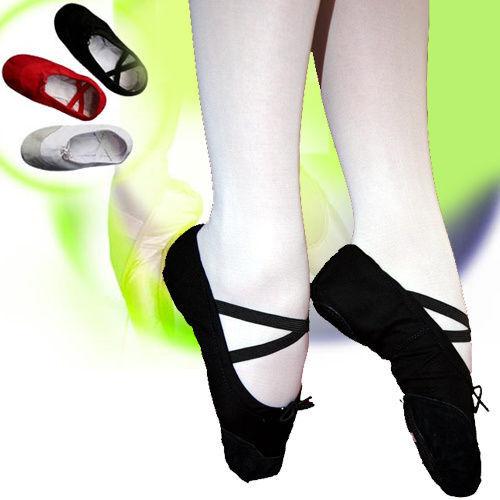 Ballettschuhe SCHWARZ Tanzschuche Ballet Ballettschläppchen Schuhe Tanz Leder