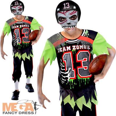 Zombie American Footballer Boys Halloween Fancy Dress Kids Childs Costume - Football Halloween Costumes For Boys