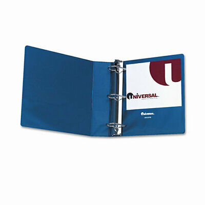 Universal D-ring 3-ring Binder With Label Holder 2 In. Capacity Royal Blue Ea