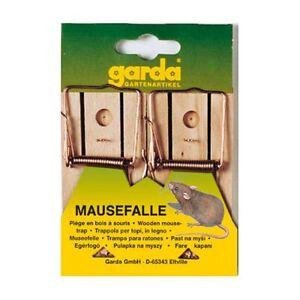 GARDA-Trampa-ratones-De-Madera-2-Piezas-Trampas-Raton