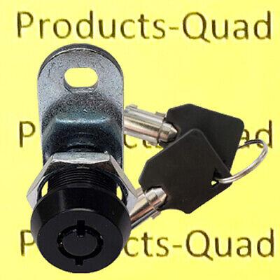 Black Tubular Cam Lock 58 180 Rv Camper Toolbox Removable Key Non-retaining