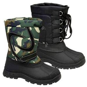 BOYS-SNOW-BOOTS-GIRLS-WATERPROOF-FUR-MUCKER-RAIN-SKI-WELLINGTONS-SLIP-ON-SHOES
