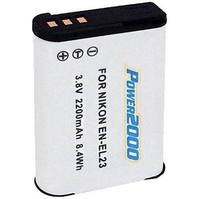 Power2000 EN-EL23 Rechargeable Battery for Nikon P600, P610, S810c, P900, B700
