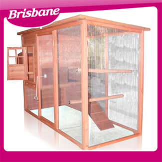 Deluxe 2.3m Rabbit Hutch Chicken Coop w/ Nesting Box 8051 QLD Eagle Farm Brisbane North East Preview