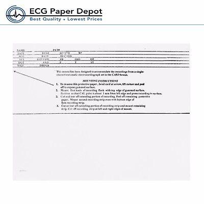 Ecg Mount Card Burdick Compatible 007909 Pressure Sensitive Case Of 15 Boxes