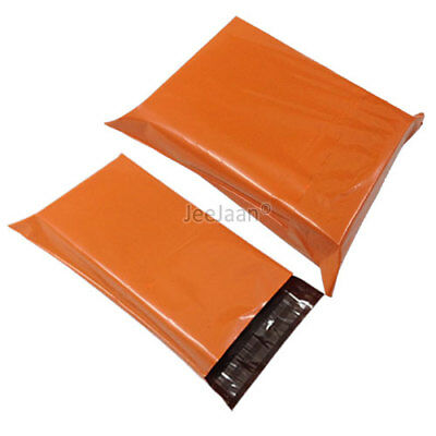 200 Orange Postal Bags Mailing Parcel Plastic Strong Poly 6