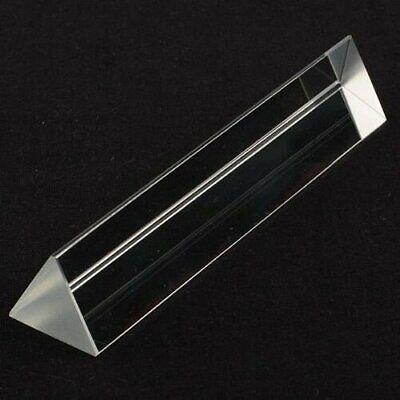 8in 200mm Xl Optical Glass Triangular Prism Teaching Light Spectrum Physics Usa