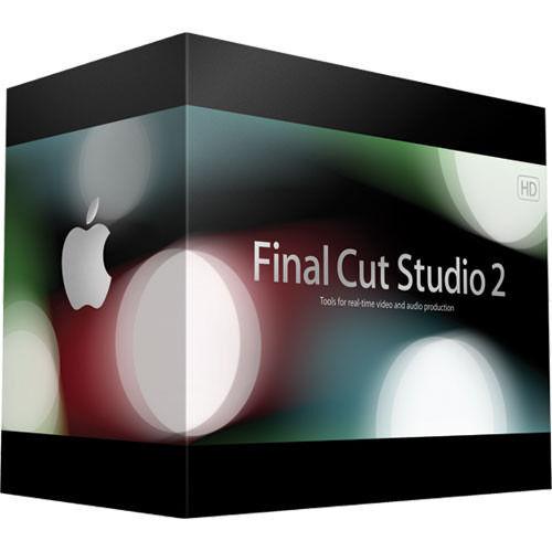 Final Cut Studio 2 editing software for Mac
