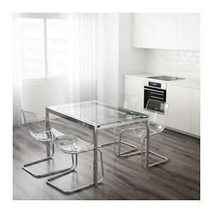 Glivarp ikea dining table with 4 chairs